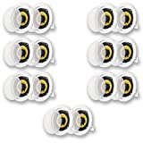 Acoustic Audio HD-5 In Ceiling Speakers Home Theater Surround Sound 7 Pair Pack