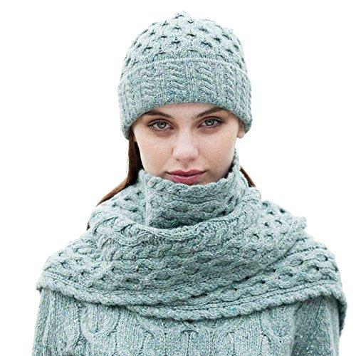 Mist Wool Scarf - Wool Scarf & Hat Set - Ocean Mist