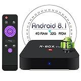 BetterLife88 Android 8.1 TV Box - 2GB RAM 16GB ROM Rockchip RK3328 Quad Core 64 Bits Processor 3D 4K Full Loaded Android TV Box