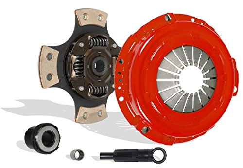 Clutch Kit Set Works With Ford Ranger Bronco II Base S STX 1985-1987 2.0L 2.3L L4 GAS SOHC 2.8L 2.9L V6 GAS OHV Naturally Aspirated 2.3L L4 DIESEL OHV Turbocharged (4-Puck Disc Stage 2)