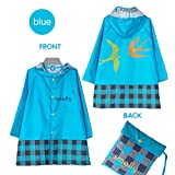 Vinaka Children Kid's Waterproof Cartoon Raincoat Pullover Lightweight (Xxl, Blue)