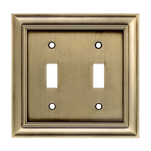- allen + roth Double Toggle Antique Brass Finish Light Switch Cover #0137796