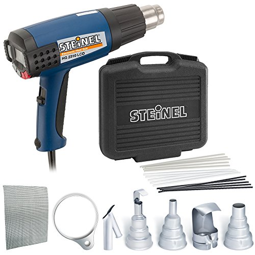 Steinel Hg 2310 Multi Purpose Heat Gun Kit   Including Industrial Power Tool With Lcd Display  1600 W Power Blowing Hot Heat  Temperature And Airflow Continuously Variable  Lockable Override Control  Ideal For Use On Electronics  Aerospace  Medical Manufacturing  34870
