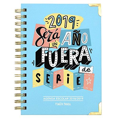Pedrita Parker - Agenda escolar 2018 2019 con mensaje Un año fuera de serie, A5, color azul 8436553493310