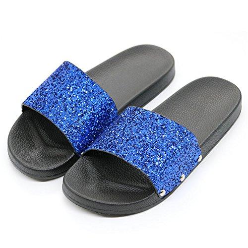 ChopstickSummer Women Flip Flop Bling Sparkling Sequins Pu Sandal Slipper Casual Beach Sandal Pu B07CLJK1GC Parent a502d3