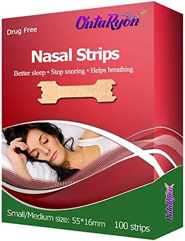 OntaRyon Nasal Strips ( x100 Regular Size ) Right Aid To Stop Snoring Premium Quality / 3 Months Supply