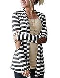 Myobe Women's Shawl Collar Thick Striped Open Front Cardigan Sweaters Coat Outwear Reviews
