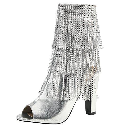 Heels-Perfect - Zapatos con tacón Mujer plateado (plateado)