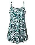 Lotusmile Top Cami Camisole Summer Beach Women Sexy Slim Sleeveless Spaghetti Strap Tank Top Multicolor Cyan/M