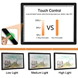 A4 LED Light Box,Golspark Ultra-Thin Portable Light Pad with Touch Dimmable Brightness Artcraft Tracing Light Table,USB Powered Light Board Kit for Students,Artists