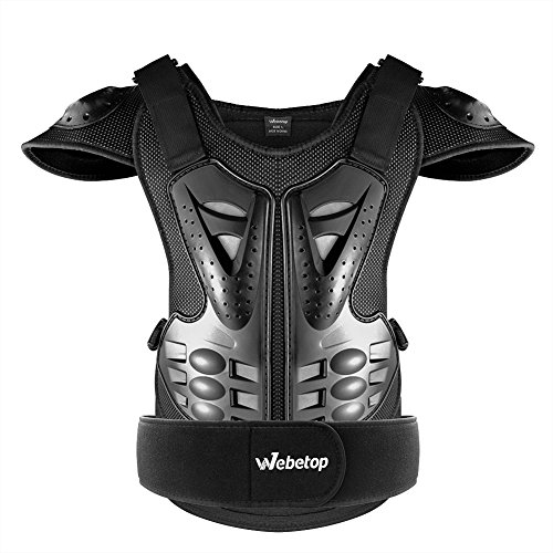 Webetop Adults Dirt Bike Body Chest Spine Protector Armor Vest for Skiing M