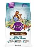 Halo Holistic Healthy Weight Dry Cat Food for Indoor Cats, Grain Free Game Bird Medley, 6 LB Bag of Indoor Cat Food