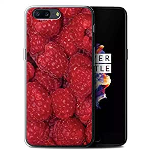 STUFF4 Gel TPU Phone Case / Cover for OnePlus 5 / Raspberry Design / Juicy Fruit Collection