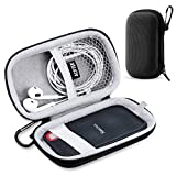 Hard Travel Case for SanDisk Extreme 250GB, 500GB, 1TB, 2TB External Portable SSD, AGPTEK Carrying Case for Solid State Drive