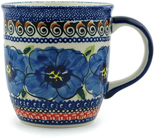 Polish Pottery Mug 12 oz Regal Bouquet UNIKAT ()