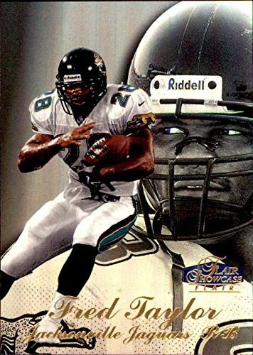 FRED TAYLOR JACKSONVILLE JAGUARS FLORIDA GATORS Jags 1998 Flair Showcase Row 3 RC #22 ROOKIE NFL Football - Showcase Flair 1998