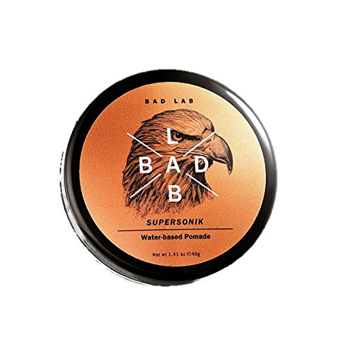 Bad Lab Supersonik, Men's Water Based Pomade, Strong H Firm and Professional Stylish Hair, Travel Size (1.41 oz)