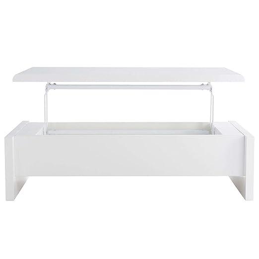 Miliboo - Mesa de salón de diseño lacada blanca LOLA: Amazon.es: Hogar