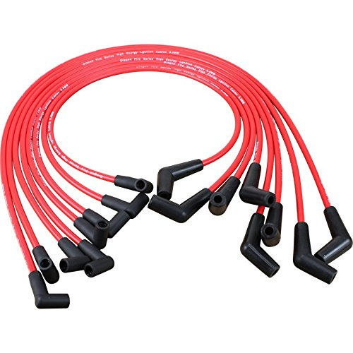 Brand New Dragon Fire HEI Spark Plug Wires for Chevrolet 366 396 427 454 502 (45 to 90) Oem Fit (Plug Wire Set 90 Boots)