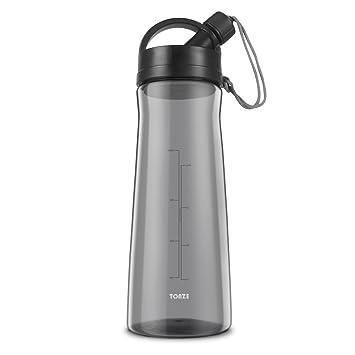 Botella de agua Grande Botella de Gimnasio Deporte sin BPA Tritan Plastico Reutilizable 1.5L Water Bottles Prueba de Fugas Botella, Gris: Amazon.es: ...