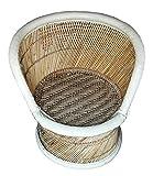 Pushkar Handicraft Bamboo Cane Bar Stool Mudda for Indoor/Outdoor Furnishings (Multicolour, 63)