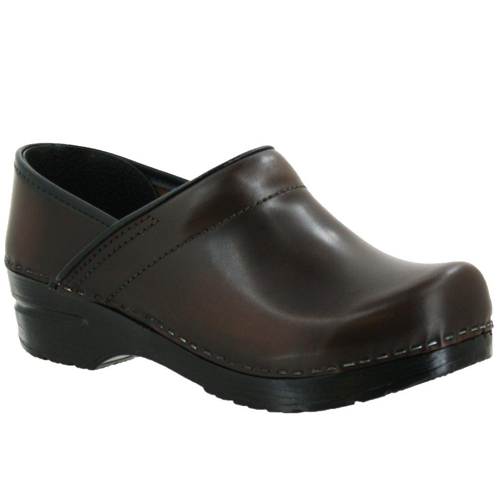 Sanita Men's Professional Cabrio Clogs, Brown Leather, 42 M EU, 8.5-9 M