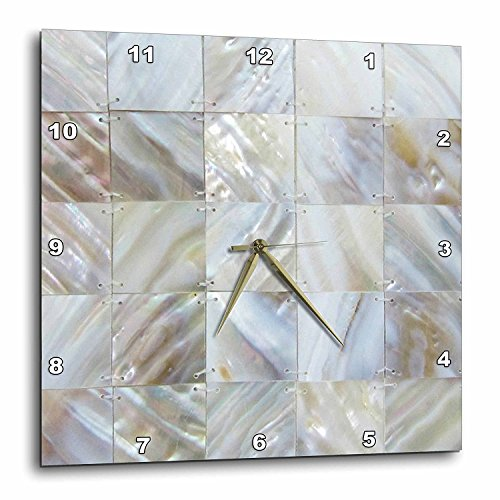 (3dRose DPP_50911_3 Picturing Mother of Pearl Wall Clock, 15 by 15-Inch )