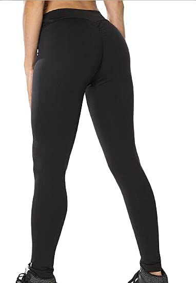 53e595045cf7b1 Sweatwater Women Sports Stretch Workout Butt-Lifting Yoga Skinny Gym Tight  Leggings at Amazon Women's Clothing store: