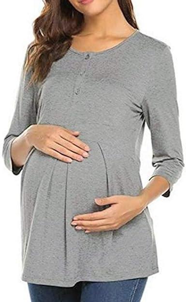 STRIR Vestido Lactancia de Mujer Embarazo Camisón, Premamá Blusa ...