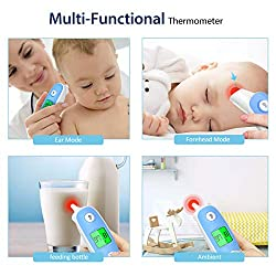 Aimego 2in1 Ear Forehead Baby Thermometer Kids Adults