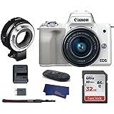 Canon EOS M50 Mirrorless Digital Camera (15-45mm, White)