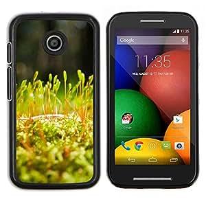 EJOOY---Cubierta de la caja de protección para la piel dura ** Motorola Moto E ** --Planta Naturaleza Forrest Flor 54
