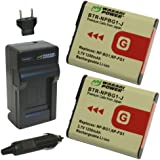 Wasabi Power Battery (2-Pack) and Charger for Sony NP-BG1, NP-FG1 and Sony Cyber-shot DSC-H3, DSC-H7, DSC-H9, DSC-H10, DSC-H20, DSC-H50, DSC-H55, DSC-H70, DSC-H90, DSC-HX5V, DSC-HX7V, DSC-HX9V, DSC-HX10V, DSC-HX20V, DSC-HX30V, DSC-N1, DSC-N2, DSC-T20, DSC-T100, DSC-W30, DSC-W35, DSC-W50, DSC-W55, DSC-W70, DSC-W80, DSC-W90, DSC-W100, DSC-W120, DSC-W130, DSC-W150, DSC-W170, DSC-W200, DSC-W210, DSC-W215, DSC-W220, DSC-W230, DSC-W270, DSC-W290, DSC-W300, DSC-WX1, DSC-WX10, Handycam HDR-GW77V