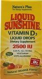 Nature's Plus Liquid Sunshine® Vitamin D3 Drops Natural Orange -- 2500 IU - 0.34 fl oz - 3PC