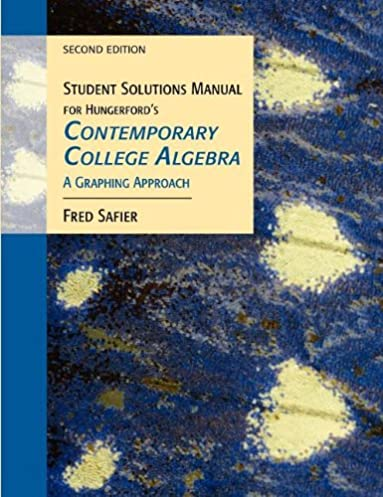student solutions manual for hungerford s contemporary college rh amazon com Abstract Algebra Boods Abstract Algebra Problems