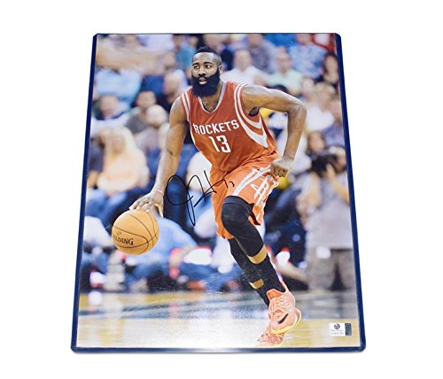 - AUTOGRAPHED James Harden #13 Houston Rockets Star Guard FEAR THE BEARD Signed Collectible Picture 11X14 Inch NBA Basketball Glossy Photo with COA