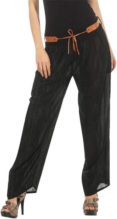 cinnamou Pantalones Mujer, Casual Pantalones Mujer Anchos Algodon ...