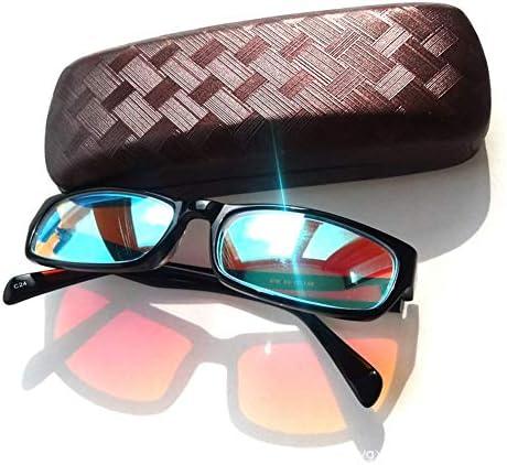 赤と緑の色盲メガネ色盲矯正樹脂レンズサングラス、男性用の視力障害屋外と屋内