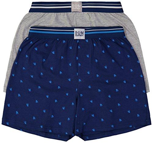 B.U.M Equipment Boys 2 Pack Cotton Knit Boxer Shorts Underwear (Boys Sleep Boxers)