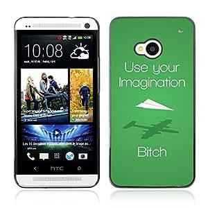 A-type Arte & diseño plástico duro Fundas Cover Cubre Hard Case Cover para HTC One (M7) ( Divertido Imagtion póster )