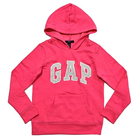 GAP Girls Fleece Arch Logo Pullover Hoodie (XL, Pink) - Gap Girls Jacket