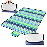 BIAL-otd 60'' x 51'' Outdoor Camping Picnic Blanket Oversized Mat Beach Blanket with Handles