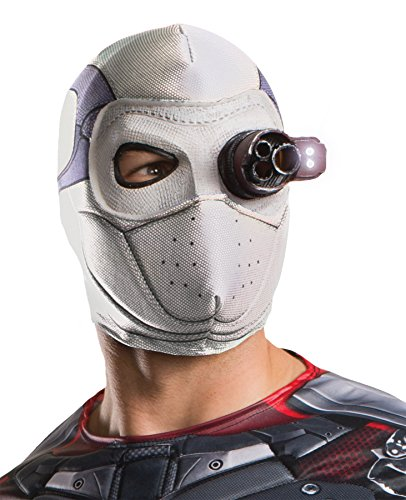 Deadshot Costume For Kids (UHC Men's Suicide Squad Deadshot Light Up Mask Halloween Costume Accessory)