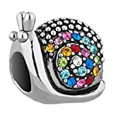 Mel Crouch Bling Crystal Snails Charms Animal Charm Beads For Bracelets