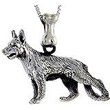 Sterling Silver German Shepherd Dog Pendant