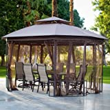 BelhamLiving Octagon 10 x 12 ft. Gazebo with Curtains