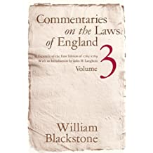 Commentaries on Laws of England, Vol. 3