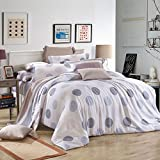 DHWM-The spring and summer ice silk double sided pure tin wire 4 piece set, bed linen, a reactive printing bedding ,1.8m