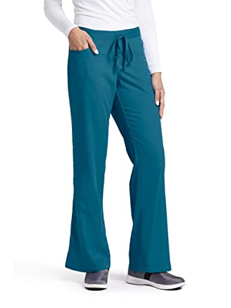 930ea8880d9 Grey's Anatomy Women's Junior-Fit Five-Pocket Drawstring Scrub Pant -  XX-Small