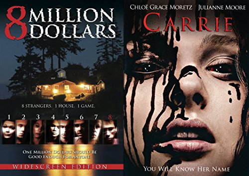 Carrie (2013) DVD Movie & 8 Million Dollars Double Feature Horror & Suspense Possession & Killing